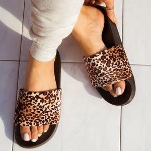 Shoes - !! RESTOCKED !! Leopard Slides